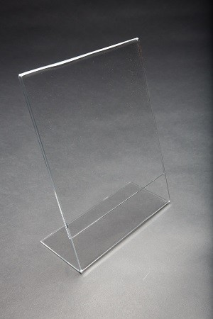 "8.5"" x 11"" Clear Acrylic Slightly Slanted  2"