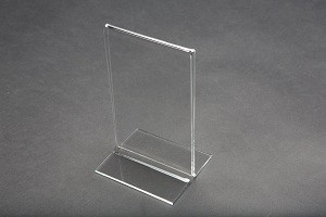 "6"" Acrylic Straight Back Counter Top Sign Holder 2"