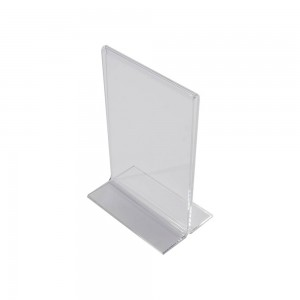 "7"" Acrylic Straight Back Counter Top Sign Holder"