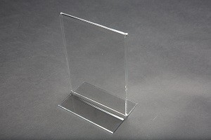 "7"" Acrylic Straight Back Counter Top Sign Holder 2"