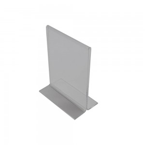 "7.5"" Acrylic Straight Back Counter Top Sign Holder (Vertical)"