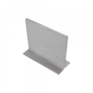 """6"""" Acrylic Straight Back Counter Top Sign Holder"""