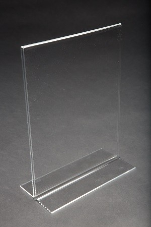 "11"" Acrylic Straight Back Counter Top Sign Holder"