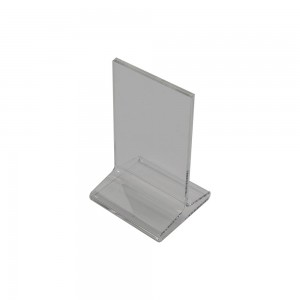 "5.75"" Acrylic Straight Back Counter Top Sign Holder"
