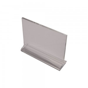 "5.5"" Acrylic Straight Back Counter Top Sign Holder"