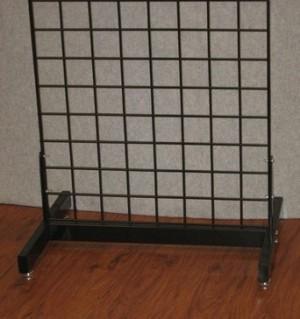 Black Metal H Gridwall Base