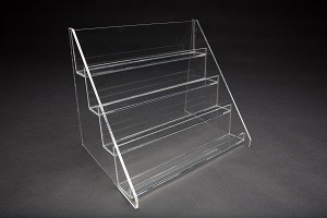 4 Tier Countertop Acrylic Shelf Display  4