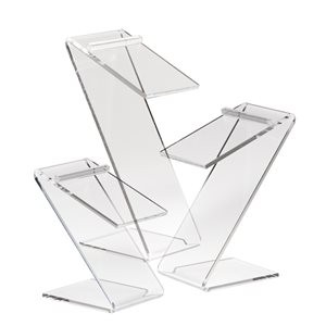 3 Acrylic Z Shaped Counter Top Shoe Risers