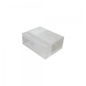 "2"" w x 1.25"" d Clear Acrylic Sign Card Holder Block"