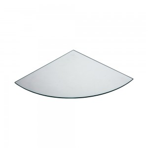 "12"" Rounded Corner Tempered Glass"