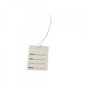 "2 7/8"" White Garment Tag with String"