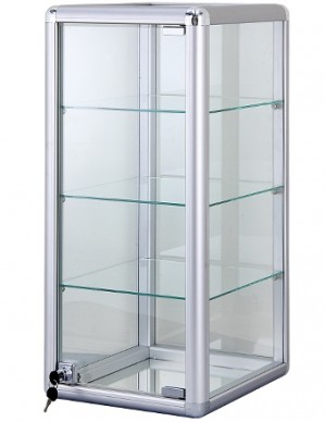 Vertical Counter Top Display Case with Lock