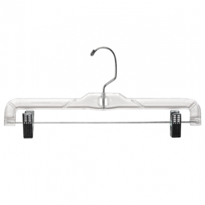 "Plastic Skirt And Pant Hangers 14"" Clear"