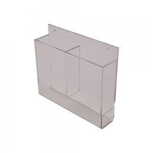 Acrylic Wall Mount 2 Pocket Brochure Holder