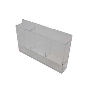 Brochure Holder 4 x 9 Wall mount 3 pocket. Clear Acrylic