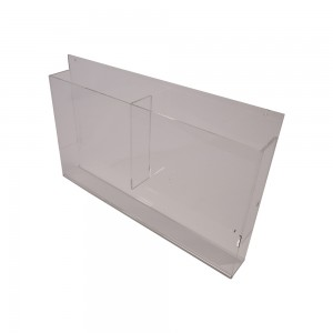 Acrylic Wall Mount 2 Pocket Literature Holder With Gap