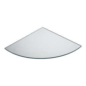 "14"" Rounded Corner Tempered Glass"