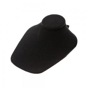 """Black Velvet Slatwall Necklace Bust 9 3/4"""""""
