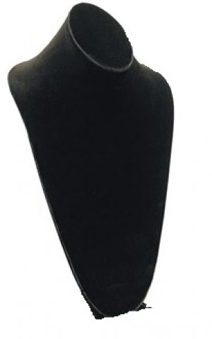 Black Velvet  Elongated Slatwall Bust 2