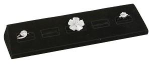 5 Slot Black Velvet Ring Display 2