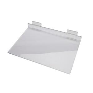 "Acrylic Slatwall Shelf 12"" x 8"""