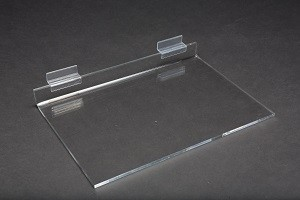 "Acrylic Slatwall Shelf 12"" x 8"" 2"