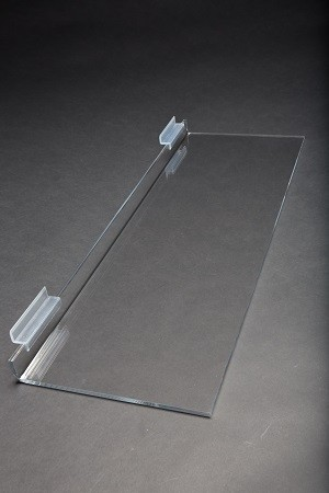 "24"" x 8"" Clear Acrylic Slatwall Shelf 2"