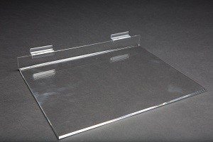 "Acrylic Slatwall Shelf 16"" x 12"" 2"