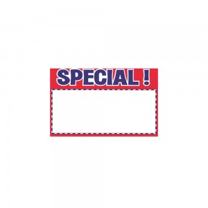 "Special Card Sign. 5.5"" x 3.5"" Pack of 100"