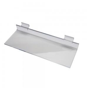 """12"""" x 4"""" Clear Acrylic Economy Slatwall Shelf"""