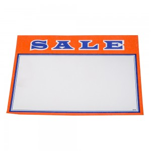 "Sale Card Sign 5.5"" x 3.5"" Red. Pack of 100"
