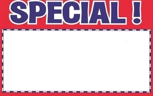 "7"" x 5.5"" Special Card 100 Pack  1"