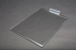 "8.5"" x 11"" Clear Acrylic Slatwall Gridwall Sign Holder 2"