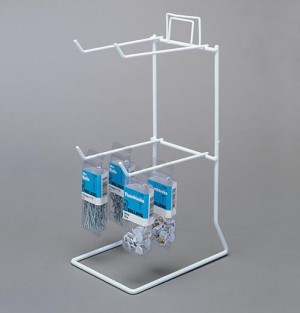 White 4 Peg Counter Wire Rack 2