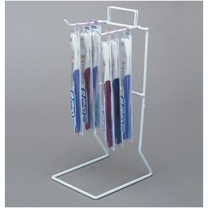 White 2 Peg Counter Wire Rack