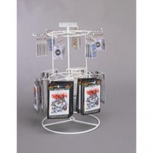 White 12 Peg - 2 Tier Counter Spinner 2