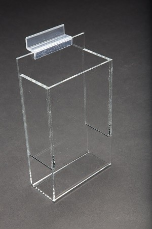 "Acrylic Slatwall Brochure Holder With Gaps 9"" 3"