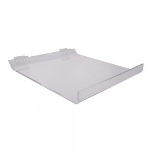 """Acrylic Slatwall Slanted Shelf 12"""""""