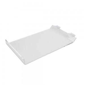 """Acrylic Slatwall Slanted Shelf with Lip 9""""x13"""""""
