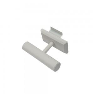 """Slatwall T-Bar 7 1/2"""" x 4 7/8 White Faux"""