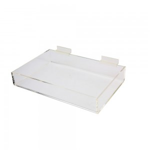 "Acrylic Slatwall Display Tray 2""x12""8.5"