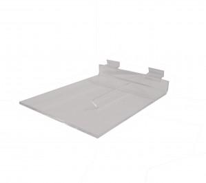 """Acrylic Slatwall Shelf with Brace 8""""x10"""""""