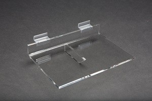 "Acrylic Slatwall Shelf with Brace 6""x9"""