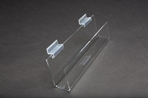 "12"" Slatwall Acrylic J Rack With Open Ends 2"