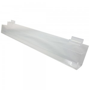 "24"" Slatwall Acrylic J Rack With Gaps"