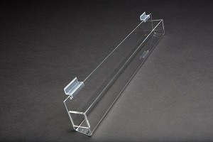 "24"" Slatwall Acrylic J Rack With Gaps 2"