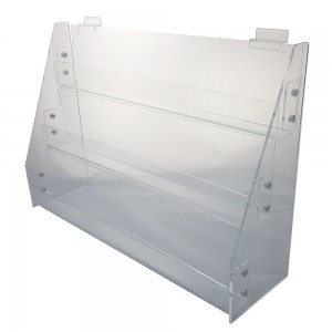 Acrylic Slatwall / Wall Mount 3 Tier Display 21""