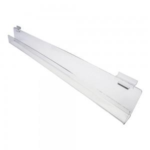"""Acrylic Slatwall Slanted Shelf with Lip 3'x2"""""""