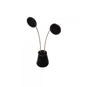 Black Velvet Drop Shape Earring Stand