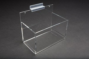 Acrylic Single Bin Slatwall Display